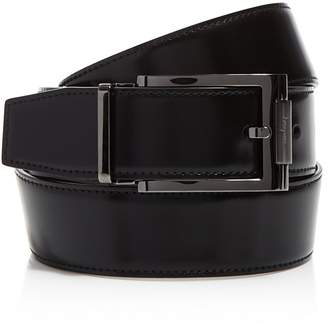 Salvatore Ferragamo Reversible Belt with Square Buckle $295 thestylecure.com