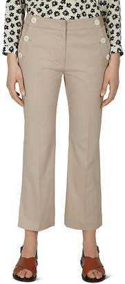 Gerard Darel Pantalon Cropped Button-Detail Pants
