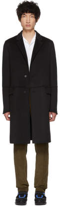 Prada Black Wool Straight Coat