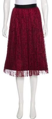 Alice + Olivia Pleated Lace Skirt