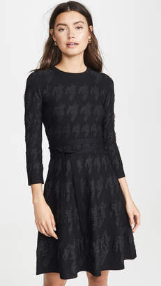 Yigal Azrouel Houndstooth Fit and Flare Dress