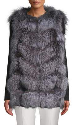 La Fiorentina Fluffy Fox Fur Vest