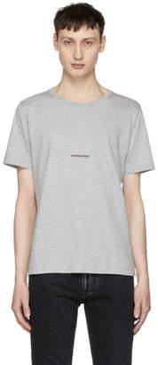 Saint Laurent Grey Rive Gauche T-Shirt