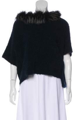 Fabiana Filippi Fur-Trimmed Alpaca Sweater