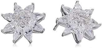 Nina Ivette Fancy Stone Floral Stud Earrings