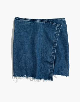Madewell Denim Wrap Mini Skirt
