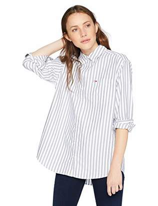 Tommy Hilfiger Tommy Jeans Women s Button Down Shirt Boyfriend Fit Classics  Collection aa7eae73f3