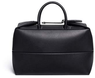 Valextra Foldable leather carry-on satchel