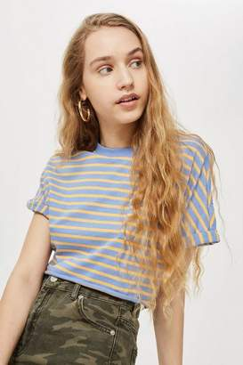 Topshop Striped crop t-shirt
