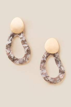 francesca's Darlene Statement Drop Earrings - Gray