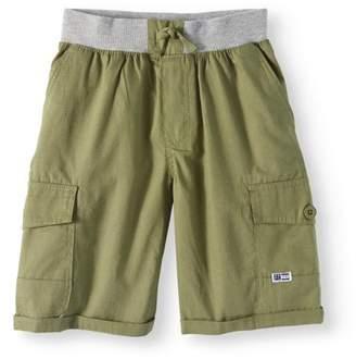 Beverly Hills Polo Club Big Boy Flat Front Fashion Pull On Mini Ripstop Cargo Shorts