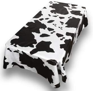 "Carnation Moo Cow Print Premum Quality Vinyl Flannel Back Oblong Tablecloth 52"" x 90"""