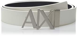 Armani Exchange Men's Skinny Leather Logo Belt