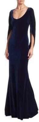 Badgley Mischka Velvet Mermaid Gown