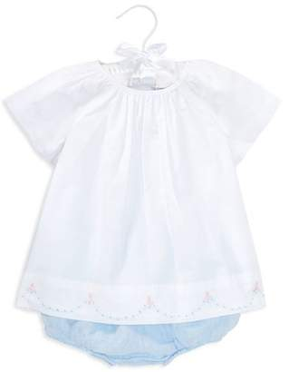 Ralph Lauren Girls' Embroidered Cotton Tunic & Linen Bloomers Set - Baby
