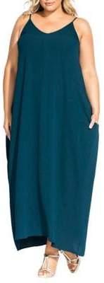City Chic Plus Sleeveless V-Neck Maxi Dress