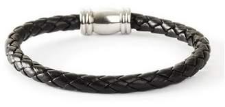Topman Mens Black Leather Bracelet*