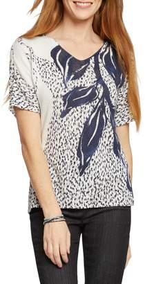 Nic+Zoe Flora Linen Blend Knit Top