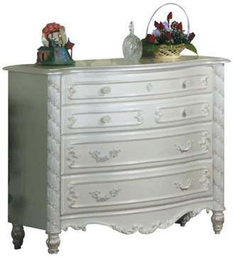 Acme Pearl Dresser, Pearl White and Gold Brush Accent