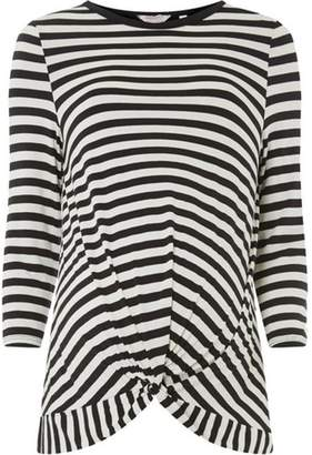 Dorothy Perkins Womens **Maternity Monochrome Stripe Manipulated Top
