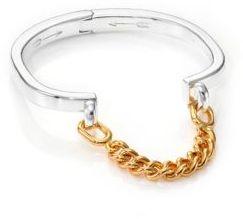 Stirrup Two-Tone Chain Cuff Bracelet $155 thestylecure.com