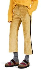Moncler 2 1952 Women's Corduroy Crop Flared Trousers - Yellow
