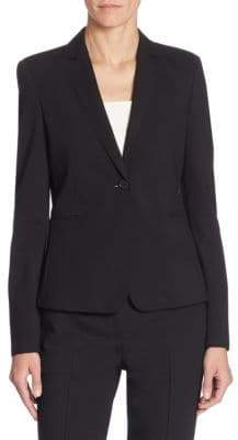 Akris Punto Elements Jersey One-Button Blazer