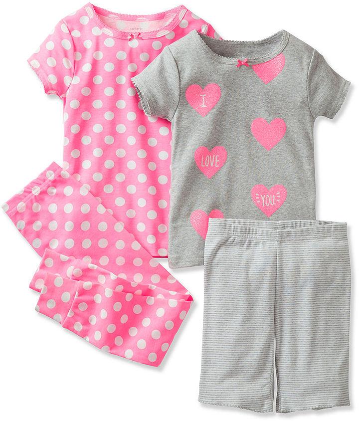Carter's Baby Girls' 4-Piece Pajamas