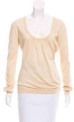 Christian Dior Cashmere Scoop Neck Top