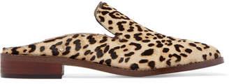 Sam Edelman Crystal-embellished Leopard-print Calf Hair Slippers - Leopard print