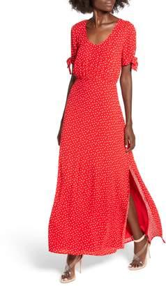 Rowa Row A Tie Sleeve Maxi Dress