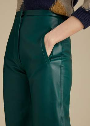 KHAITE The Emma Pant in Hunter Green Leather