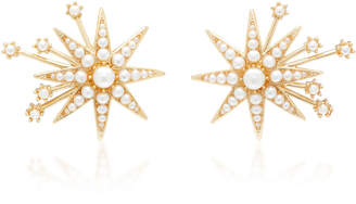 Lulu Frost Nova Glass Pearl and Gold-Plated Brass Stud