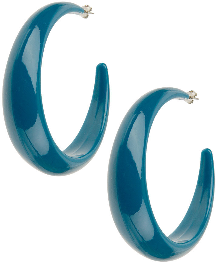 Poly Crescent Earrings