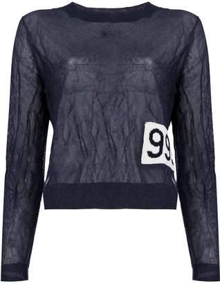 Aalto number patch sweatshirt