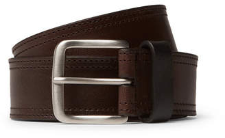 Dries Van Noten 3cm Dark-Brown Leather Belt