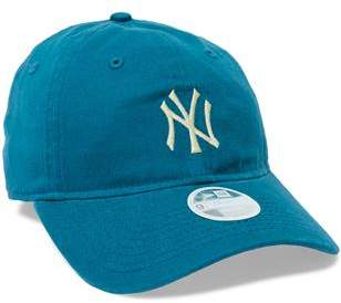 New Era W 9Twenty Cs Ny Yankees Teal Wheat Hat