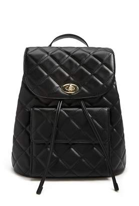 Forever 21 Quilted Flap Top Backpack