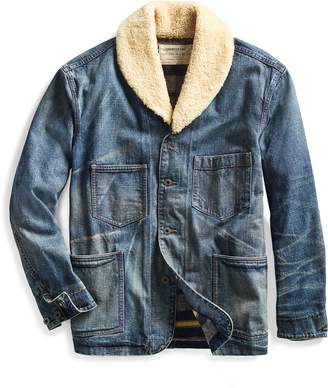 Ralph Lauren Shearling-Collar Denim Jacket