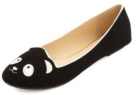 Charlotte Russe Panda Face Ballet Flat