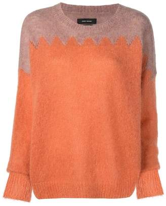 Isabel Marant contrast panel knit sweater