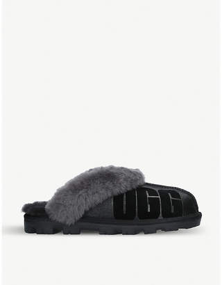 UGG Coquette sparkle suede and sheepskin slippers