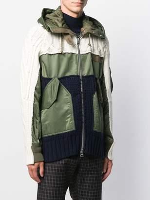 Sacai cable knit MA-1 jacket
