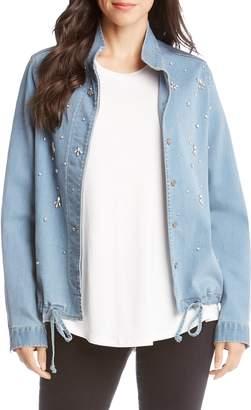 Karen Kane Embellished Denim Jacket
