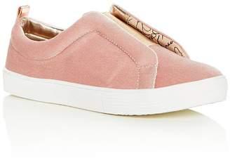 Sam Edelman Girls' Bella Emma Velvet Slip-On Sneakers - Toddler, Little Kid, Big Kid