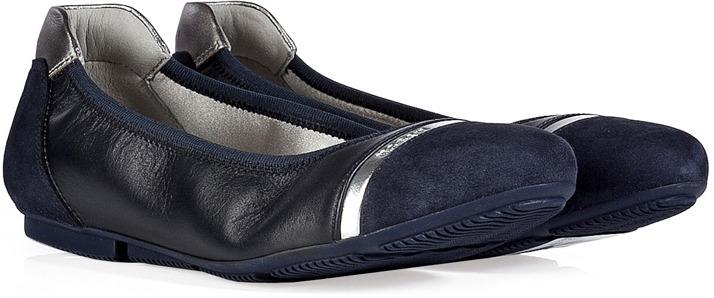 Hogan Leather/Suede Ballerinas
