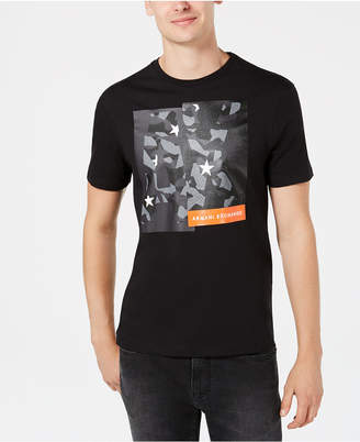 Armani Exchange Men's Camo Block Logo Graphic T-Shirt