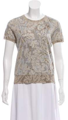 Marc Jacobs Cashmere-Blend Short Sleeve Top w/ Tags