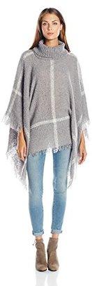 Collection XIIX Women's Plaid Cowl Poncho $48 thestylecure.com