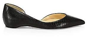 Christian Louboutin Women's Iriza Crocodile-Embossed Leather Flats
